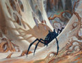 Pulp, Pulp-like, Digests, and Paperback Art, Jeff Easley (American, 20th Century). Penumbra Spider, Magic theGathering card illustration, 2006. Acrylic on board. 14...