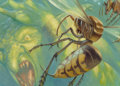 Pulp, Pulp-like, Digests, and Paperback Art, Matthew Stewart (20th Century). Hornet Sting, Magic theGathering card illustration, 2011. Oil on paper laid on boa...