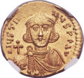 Ancients:Byzantine, Ancients: Justinian II, first reign (AD 685-695). AV solidus (20mm,4.44 gm, 7h)....