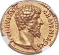 Ancients:Roman Imperial, Ancients: Lucius Verus (AD 161-169). AV aureus (19mm, 6.83 gm, 7h)....