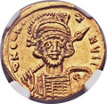 Ancients:Byzantine, Ancients: Constantine IV (AD 668-685). AV solidus (20mm, 4.31 gm, 6h)....
