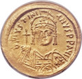 Ancients:Byzantine, Ancients: Justinian I the Great (AD 527-565). AV solidus (21mm,6h)....