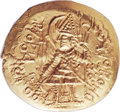 Ancients:Oriental, Ancients: INDIA. Kushan Empire. Vasudeva II (ca. AD 290-310). AV dinar (28mm, 8.14 gm, 1h)....