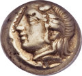 Ancients:Greek, Ancients: IONIA. Phocaea. Ca. 477-388 BC. EL 1/6th stater or hecte(9mm, 2.54 gm)....