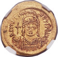 Ancients:Byzantine, Ancients: Justinian I the Great (AD 527-565). AV solidus (21mm,4.48 gm, 6h)....