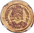 Ancients:Byzantine, Ancients: Justinian I the Great (AD 527-565). AV solidus (21mm, 4.49 gm, 6h)....