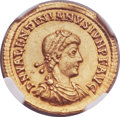 Ancients:Roman Imperial, Ancients: Valentinian II, Western Roman Emperor (AD 375-392). AVsolidus (21mm, 4.49 gm, 2h)....