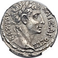 Ancients:Roman Provincial , Ancients: SYRIA. Seleucia Pieria. Augustus (27 BC-AD 14). ARtetradrachm (27mm, 15.50 gm, 1h)....