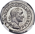 Ancients:Roman Imperial, Ancients: Gordian I Africanus (AD 238). AR denarius (20mm, 3.10 gm,12h)....
