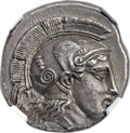 Ancients:Greek, Ancients: THESSALY. Pharsalus. Ca. 425-350 BC. AR drachm (20mm,6.04 gm, 6h)....