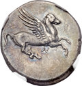 Ancients:Greek, Ancients: ACARNANIA. Anactorium. Ca. 350-300 BC. AR stater (23mm,8.37 gm, 12h)....