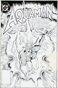 Memorabilia:Comic-Related, Curt Swan and Al Vey Aquaman #2 Cover Production Art (DC, 1989)....