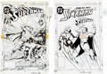 Memorabilia:Comic-Related, Kerry Gammill, Dennis Janke, and Tom Lyle Superman #33 and Starman #14 Cover Production Art (DC, 1989)... (Total: 2 Items)