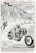 Original Comic Art:Splash Pages, Dave Simons and Dave Weiss Team America #11 Splash Page 1Original Art (Marvel, 1983)....