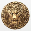 "Luxury Accessories:Accessories, Chanel Gold Lion Brooch . Good Condition . 1.5"" Width x 1.5""Height . ..."