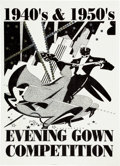 Memorabilia:Poster, Evening Gown Competition Poster (undated)....