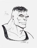 Original Comic Art:Sketches, George Perez The Incredible Hulk Sketch Original Art(1996)....