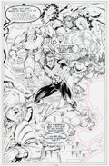 Original Comic Art:Splash Pages, Tom Grummett and Al Vey New Titans #90 Splash Page 22Original Art (DC, 1992)....