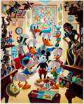 Memorabilia:Disney, Carl Barks In Uncle Walt's Collectery Signed Limited Edition Lithograph Print 229/345 (Another Rainbow, 1984). ... (Total: 2 Items)