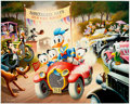Memorabilia:Disney, Carl Barks A 1934 Belchfire Runabout Signed Limited Edition Lithograph Print #204/345 (Another Rainbow, 1984). ... (Total: 2 Original Art)