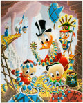 Memorabilia:Disney, Carl Barks First National Bank of Cibola Signed Limited Edition Lithograph Print #203/345 (Another Rainbow, 1987).... (Total: 2 Items)