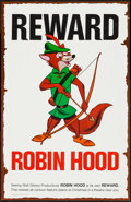 "Movie Posters:Animation, Robin Hood (Buena Vista, 1973). Promotional Wanted Poster (11"" X 17"") Advance. Animation.. ..."