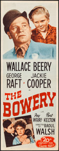 "Movie Posters:Adventure, The Bowery (20th Century Fox, R-1946). Insert (14"" X 36"").Adventure.. ..."