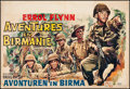 "Movie Posters:War, Objective Burma (United Artists, R-1950s). Belgian (14.5"" X 21"").War.. ..."