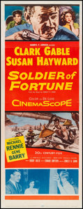 "Movie Posters:Adventure, Soldier of Fortune (20th Century Fox, 1955). Insert (14"" X 35.75"").Adventure.. ..."