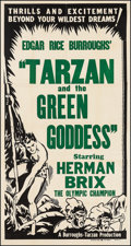 "Movie Posters:Adventure, Tarzan and the Green Goddess & Other(Burroughs-Tarzan-Enterprise, 1938). Three Sheet (42"" X 80.5"") andMasterpiece Theater ... (Total: 2 Items)"