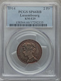 Luxembourg, Luxembourg: Marie Adelaide copper Specimen 2 Francs 1914 SP66 Redand Brown PCGS,...
