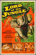 "Movie Posters:Adventure, Lord of the Jungle & Other Lot (Allied Artists, 1955).Autographed One Sheet & One Sheet (27"" X 41""). Adventure.. ...(Total: 2 Items)"