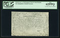 Colonial Notes:New Hampshire, New Hampshire April 3, 1755 Redated June 1, 1756 £3 Cohen ReprintPCGS New 62PPQ.. ...