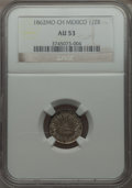 Mexico, Mexico: Republic 1/2 Real 1862 & 2 Reales 1863,... (Total: 2coins)