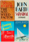 Books:Literature 1900-up, John Barth. Group of Four SIGNED Books. Various publishers anddates.... (Total: 4 Items)