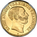 German States:Hannover, German States: Hannover. Ernst August gold 10 Taler 1844-B MS64NGC,...