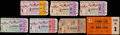 Baseball Collectibles:Tickets, 1951-54 World Series Ticket Stubs Lot of 7....