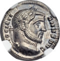 Ancients:Roman Imperial, Ancients: Diocletian (AD 284-305). AR argenteus (19mm, 3.35 gm,12h)....