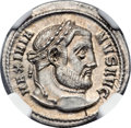 Ancients:Roman Imperial, Ancients: Galerius (AD 305-313). AR argenteus (20mm, 3.56 gm, 12h)....