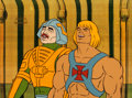 Animation Art:Production Cel, He-Man and the Masters of the Universe Man-At-ArmsProduction Cel Setup (Filmation, 1984).... (Total: 3 Items)