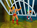 Animation Art:Production Cel, He-Man and the Masters of the Universe Spydra Production CelSetup (Filmation, 1983).... (Total: 3 Items)