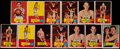 Basketball Cards:Lots, 1957 Topps Basketball Collection (13)....