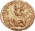 Ancients:Oriental, Ancients: INDIA. Kushan Empire. Huvishka (ca. AD 152-192). AV dinar (21mm, 8.05 gm, 12h)....