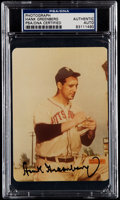 Autographs:Photos, PSA/DNA Hank Greenberg Pittsburgh Pirates Signed Photograph....