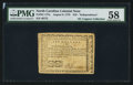 Colonial Notes:North Carolina, North Carolina August 8, 1778 $10 Independence PMG Choice About Unc58.. ...