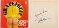 Music Memorabilia:Autographs and Signed Items, Beatles - John Lennon and Yoko Ono Signed Grapefruit Book (London: Sphere Books, 1971). ...