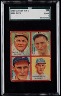 Baseball Cards:Singles (1930-1939), 1935 Goudey 4-In-1 Ruth/Maranville/Brandt/McManus #A3 SGC 10 Poor 1....