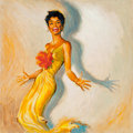 Pin-up and Glamour Art, Pete Hawley (American, 20th Century). Encore by Lena Horne, RCAvinyl album cover, circa 1958. Gouache on board. 16.625 ...