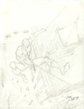 Original Comic Art:Covers, John Romita Sr. Alfred Magazine #1: Alfred's Own Spider-ManCover Preliminary Sketch Original Art (Marvel, 2000).... (Total: 2Items)