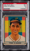 Baseball Cards:Singles (1940-1949), 1941 Play Ball Vince DiMaggio #61 PSA EX 5....